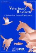 Veterinary Research, a journal on Animal Infection Cover page